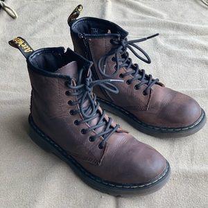 Dr. Martens air wait brown combat boots EUC